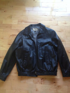 Mens Leather Jacket Size 44