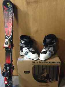 Salomon Skis and boots for child