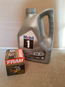 Synthetic oil & filter