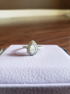 Pear shape gently used ring for sale $1700 OBO