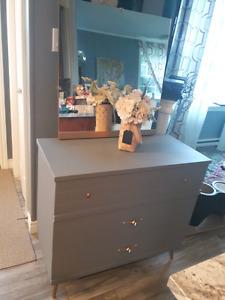 Refinished retro dresser