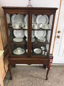 Antique Walnut China Cabinet