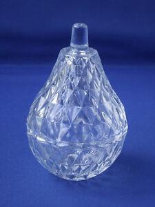Vintage Italian Cut Glass Pear Shaped Trinket Dish