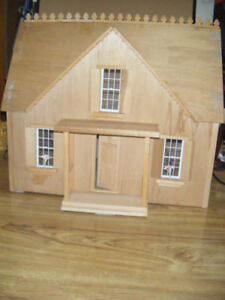 Hand Crafted Wood Model House for sale