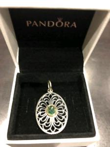 Pandora 14k gold bezel ring and pendant