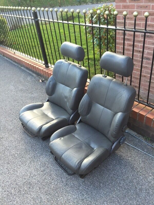 Leather Car Seats Ideal For Kit Or Office Chair Conversion Bucket