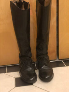 ARIAT Size 78 (8.5) Slim Riding Boots Leather $80
