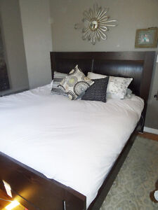 Modern King Bedroom Suite, Excellent Condition