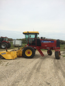 Self propelled SR240 New Holland disc bine mower conditioner