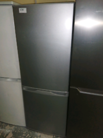 SILVER CURRY'S FRIDGE FREEZER WITH 3 MONTHS WARRANTY AT RECYK