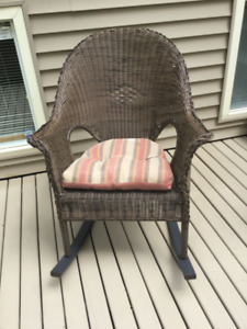 Resin wicker outdoor rocking chair for sale