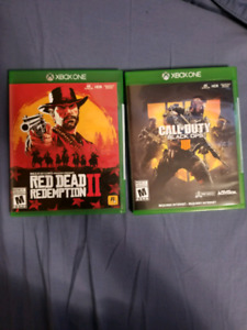 Red dead redemption 2 and Black ops 4