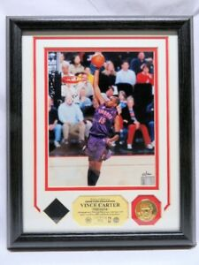 VINCE CARTER, Toronto Raptors Game Used Jersey PHOTOMINT Display