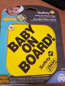 Baby on board sign for car