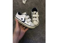 Boys converse leather trainers