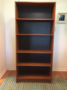 bookshelf - quality wood veneer - 5 feet, 7 inches