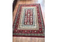 Lovely red Vintage shabby chic style patterned rug 170 x 120cm