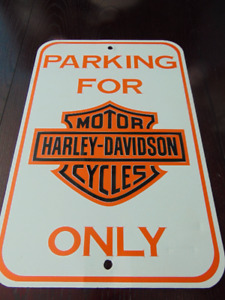 METAL HARLEY DAVIDSON SIGN