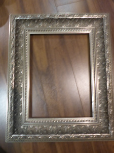 Solid wood silver frame