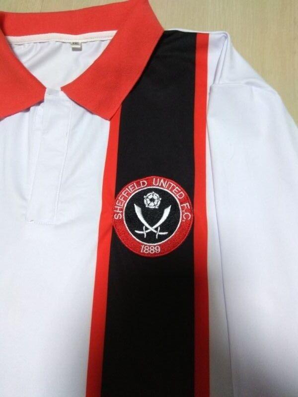 1978/79 Sheffield United Utd retro away football shirt jersey Long sleeved No 10