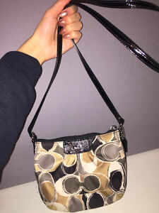COACH Genuine Small patterned crossbody bag