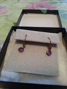 10 Kt. Gold Amethyst Earrings
