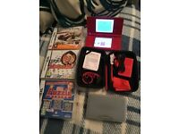 Nintendo DSi, 3 games & case