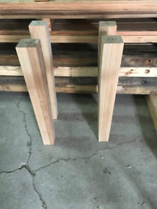 Old Growth Heart Pine Tapered Table legs
