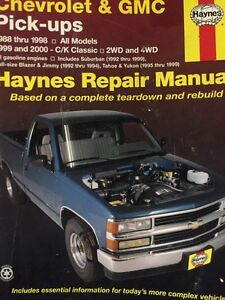 Haynes manual for 88 to 2000 GM pick-ups