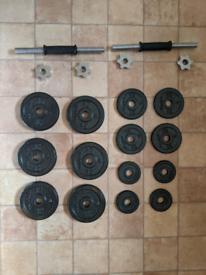 Dumbells & Cast Iron Plates - 26kg