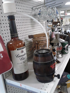 Canada Club -Windsor -Walkerville Heavy large bottle with pump-