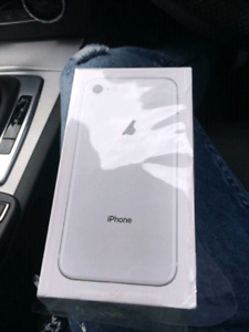 White iPhone 8 Brand New Sealed in Box-Warranty/receipt