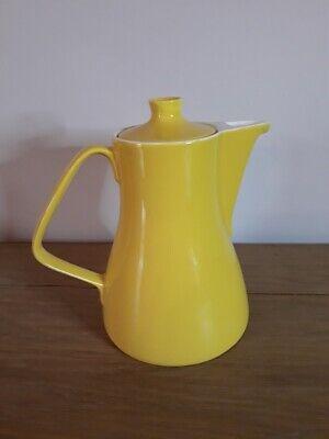 Ancienne cafetière en faïence- Vintage yellow coffee pot