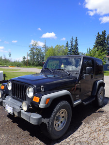 2005 Jeep TJ Sport Hard and Soft tops