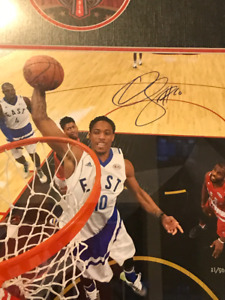 Offical Toronto All star Court Signed Derozan