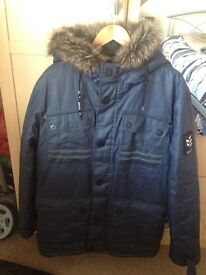 Men's winter coat worn once size large