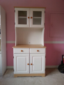 White Kitchen Hutch / Microwave Stand
