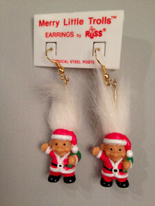 Christmas Troll earrings