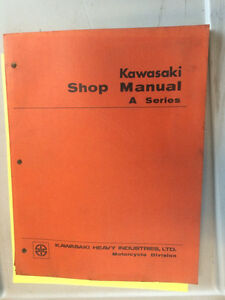 1969 Kawasaki H1 OEM Shop Manual A1 A7 500 350 250