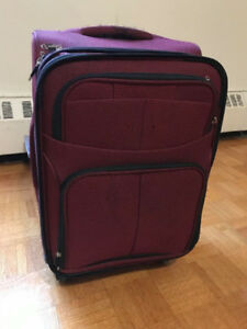 Red Carry on luggage