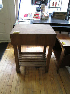 Small Butchers Block Table For Sale At Nearly New Port Hope