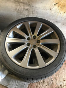 Subaru Impreza WRX rims with Michelin Pilot Sport A/S tires