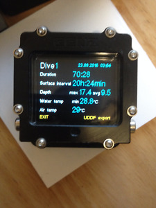 XDeep (GENZ) Black EANx Dive computer with OLED display