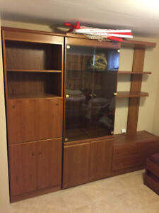 Wall Unit - Solid wood teak for sale