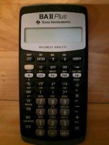Calculator Texas instruments business analyst BA II Plus