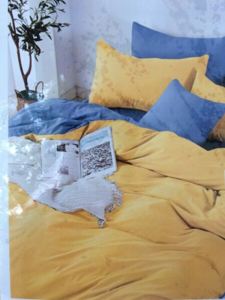 QUEEN CANARY YELLOW Fitted BedSheet + Pillowcase Set NEW