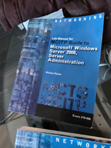 windoes server 2008 textbook & data communications and comp net