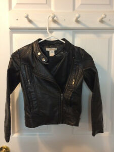 faux leather jacket, Size Small (6-7) $10.00