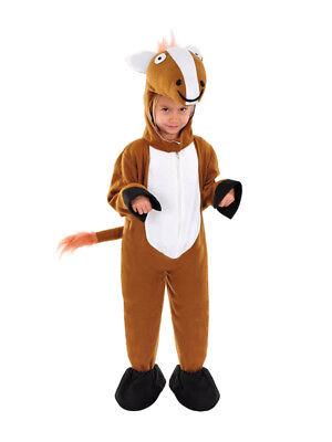 Pferd Kinder-kostüm (NEU PFERD KINDERKOSTÜM 110 - 116 FASCHING KARNEVAL HALLOWEEN  RUMMELPOTT KOSTÜM)