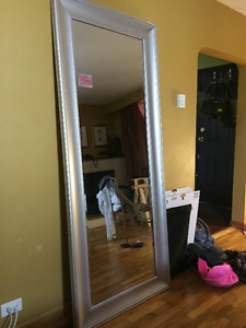 Full length silver mirror, good quality.